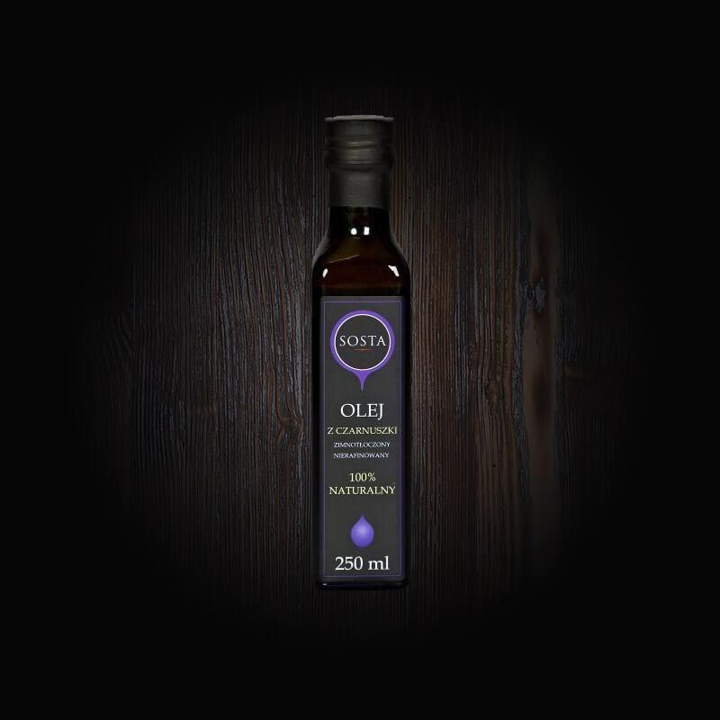 olej z czarnuszki tłoczony na zimno sosta
