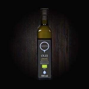 olej lniany ekologiczny tłoczony na zimno sosta