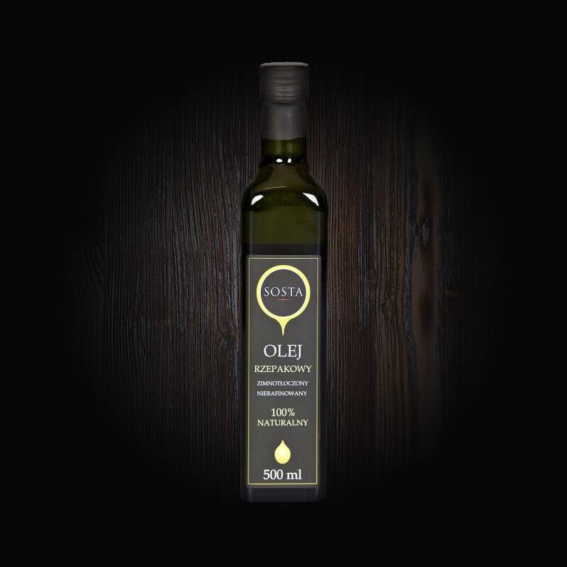 olej rzepakowy tłoczony na zimno sosta